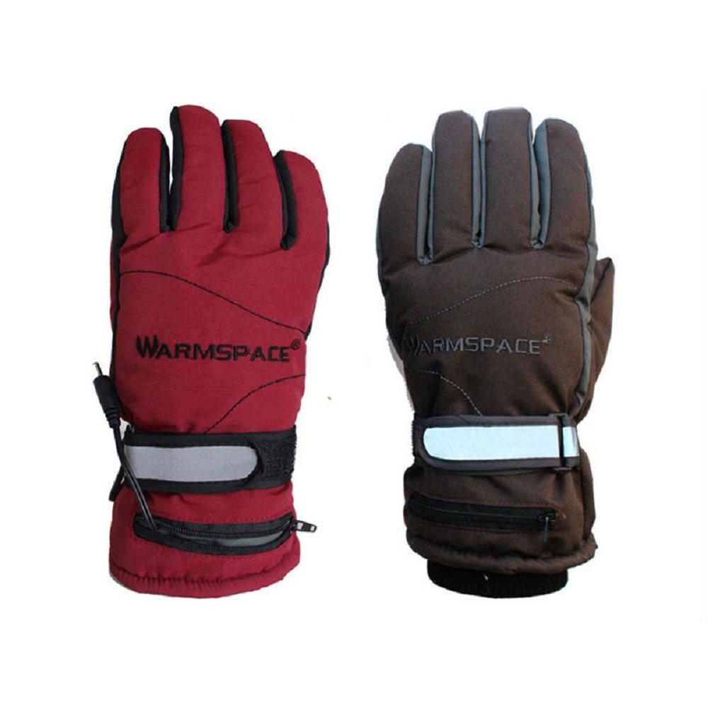 YAVOCOS Wasserdichte elektrische Heizhandschuhe halten warm, flexibel, weich, wiederaufladbar, 3,7 V / 2000 mAh Akku, Smart-Handschuh für den Winter