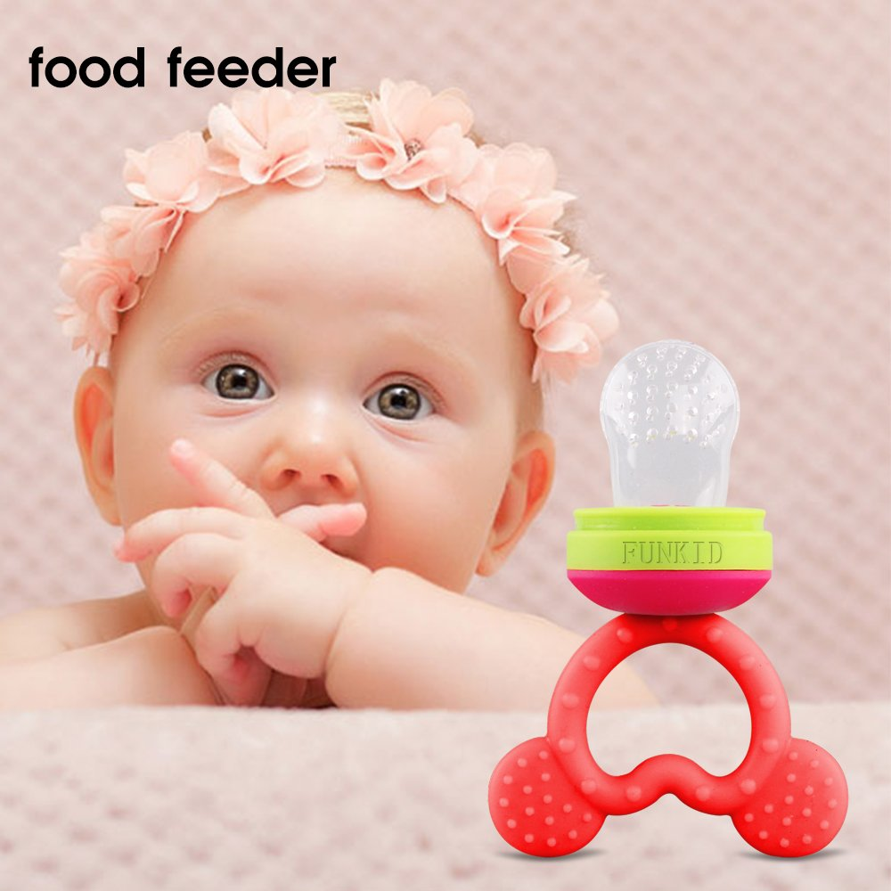 Funkid Baby Food Feeder, Silicone Baby Teether, Teething toy ...