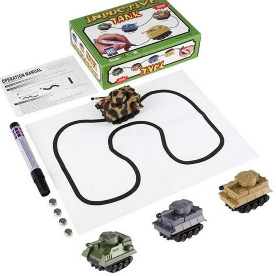 Dickin 子供用 ノベルティ 誘導 ミニ タンク 玩具 ブラック ライン入り おもちゃ プッシュ&プルおもちゃ 1個 (ランダムカラー)   B07J2B8HHS
