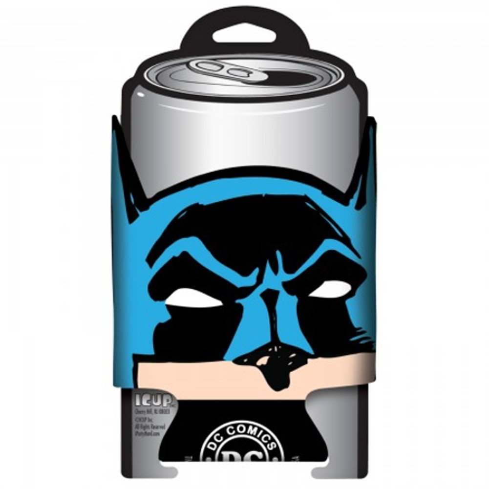 Batman Logotipo de la cara puede refrigerador Koozie Hugger Coozy ...