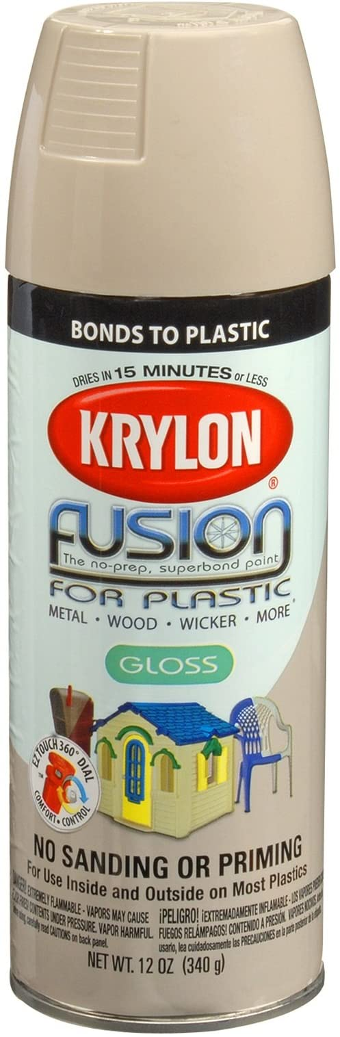 Krylon K02323007 Fusion For Plastic Spray Paint, River Rock, 12 Ounce