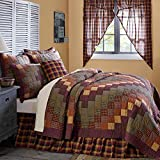 10-pc Heritage Farms Country Farmhouse Quilt Set w/5 Pillows, Skirt & Valance - VHC Brands (Queen)