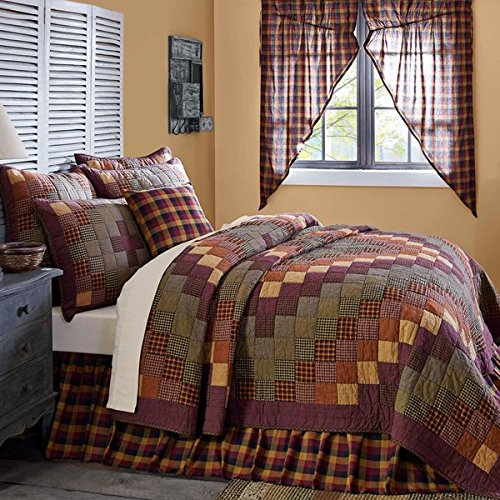 10-pc Heritage Farms Country Farmhouse Quilt Set w/5 Pillows, Skirt & Valance - VHC Brands (Queen) by Heritage Farms - Mayflower Market Collection
