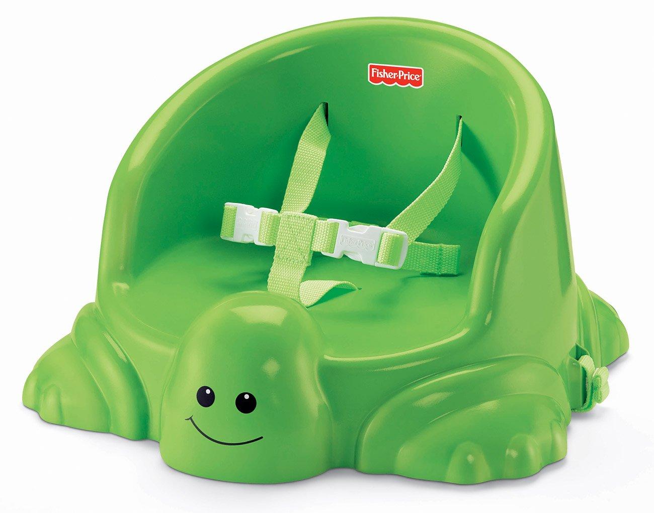Fisher Price V Elevador de asiento con diseño de tortuga color verde