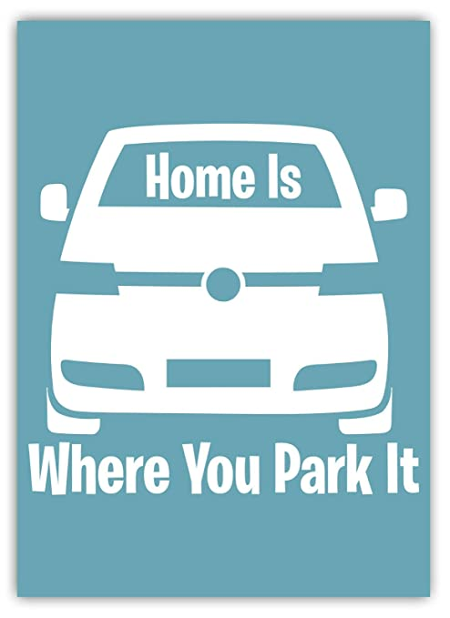 LORENZO Home Is Where You Park It Vintage Metal Cartel de ...
