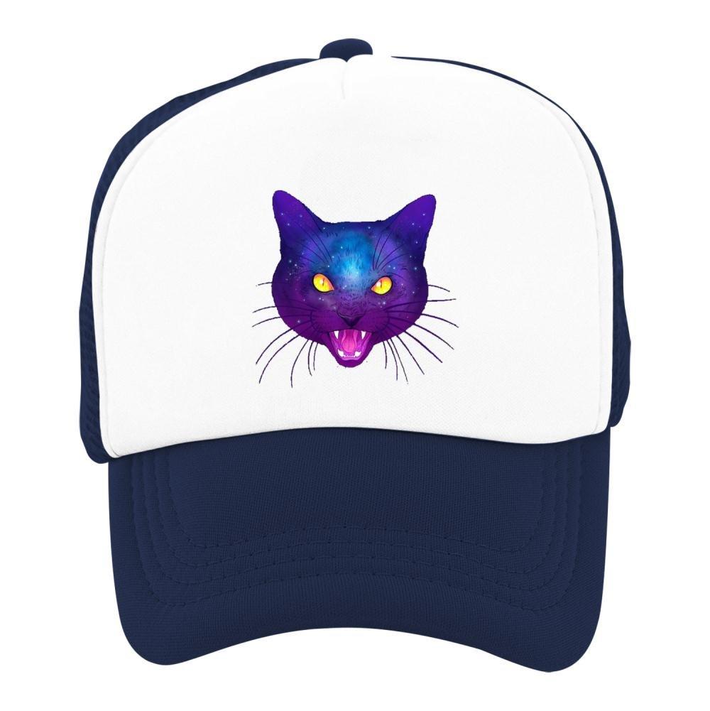Kids Baseball Cap Galaxy Cat Classic Mesh Outdoor Hat