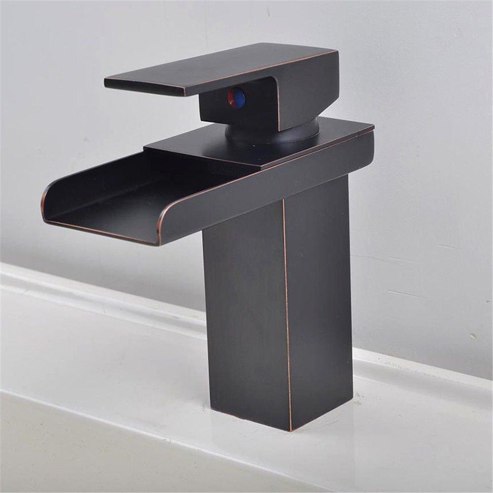 NewBorn Faucet Wasserhähne Warmes und Kaltes Wasser Größe Qualität der Wasserfall Leitungswasser schwarzwide Mouthmixing Badezimmer Leitungswasser