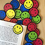 Smiley Face Bookmarks - 36 Bulk Bookmarks for Kids girl's boys- School Student Incentives – Library incentives – Reading Incentives - Party Favor Prizes - Classroom Reading Awards!