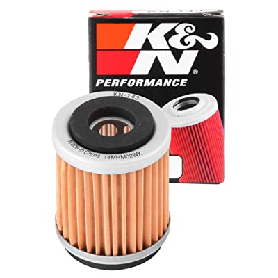 K&N Motorcycle Oil Filter: Premium High Performance Oil Filter designed to be used with synthetic or conventional oils fits Yamaha XT, TTR, TW, SR Oil Filter KN-143: Automotive