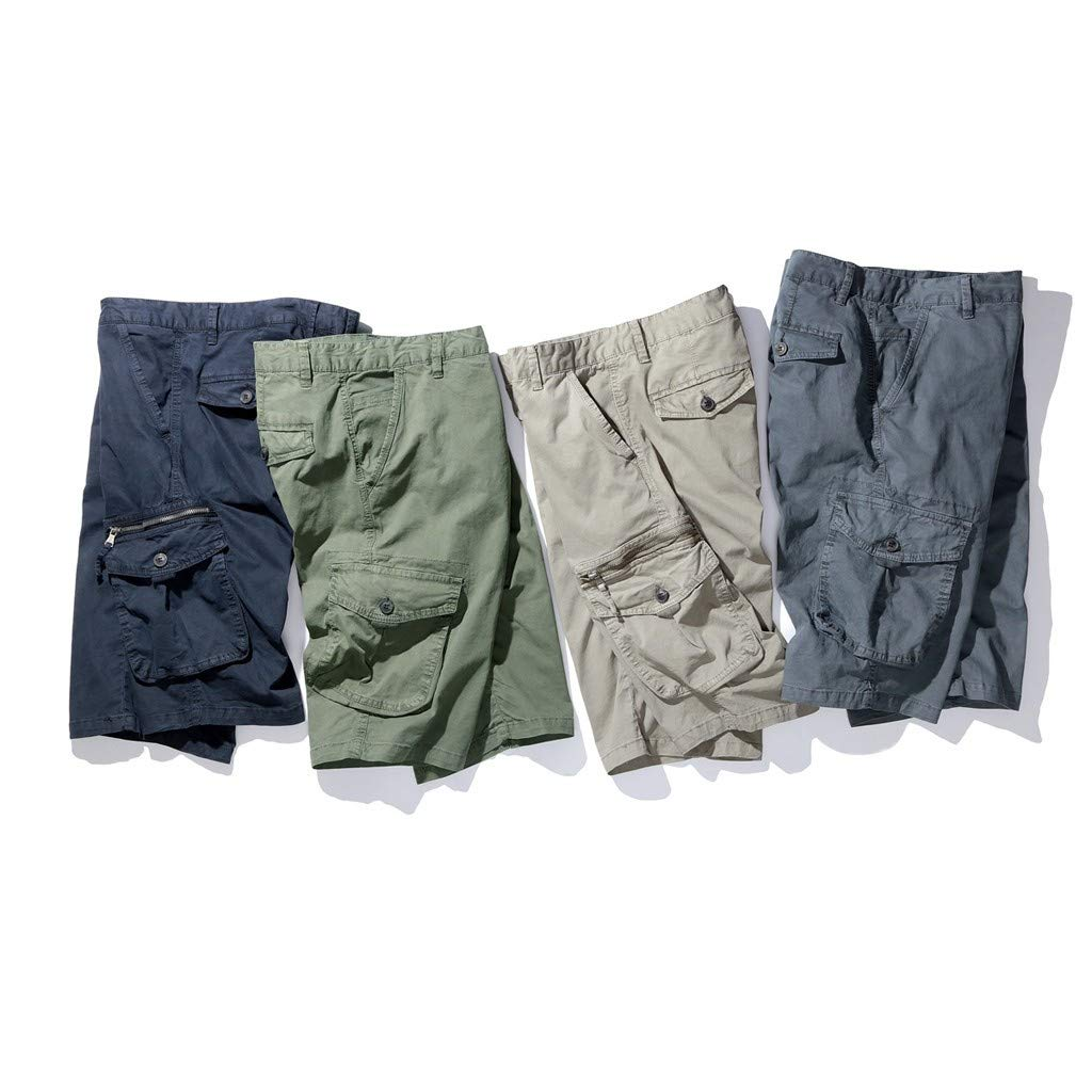 Mens Cargo Shorts,Donci Fashion Pocket Beach Work Casual Short Trouser Loose Comfortable Half Pants by Donci Pants (Image #5)
