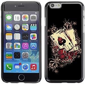 YOYO Slim PC / Aluminium Case Cover Armor Shell Portection //Cool Casino Aces - Ace Of Spade //Apple Iphone 6 Plus 5.5