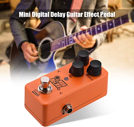 Fesjoy Guitarra Eléctrica ANA DELAY Mini Digital Delay Pedal de ...