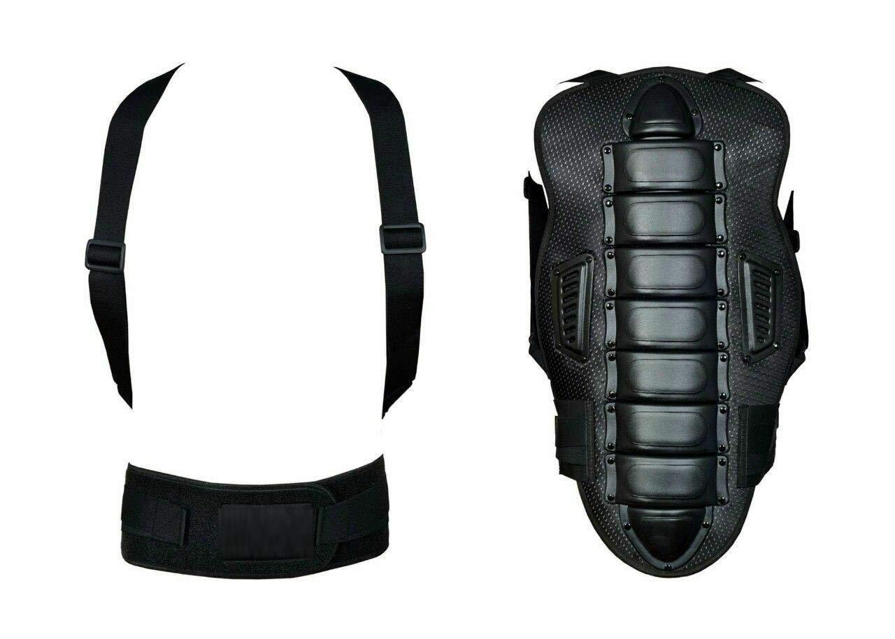 con protezione per la colonna vertebrale Pro First MB Giacca da moto da uomo nera