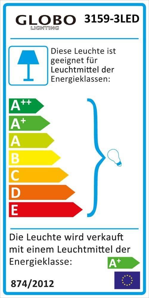 LED 25,5 Watt Steh Leuchte Au/ßen Beleuchtung IP44 Edelstahl S/äulen Stand Lampe Globo 3159-3LED
