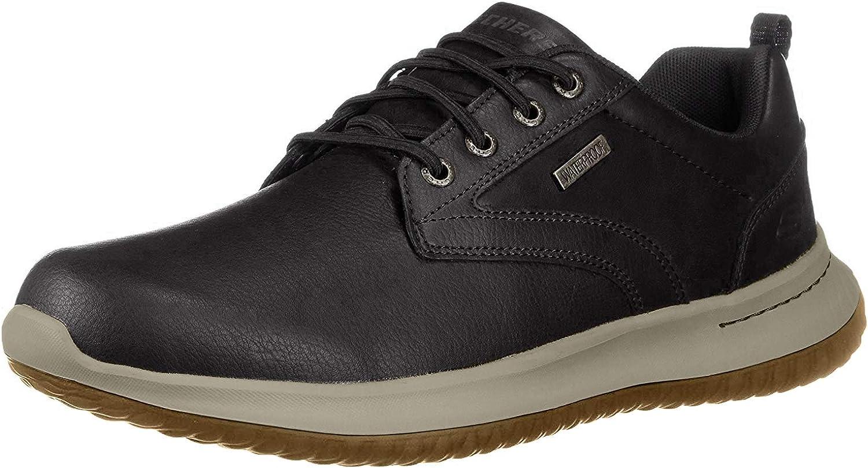 TALLA 43 EU. Skechers Delson-Antigo 65693, Zapatos de Cordones Oxford para Hombre