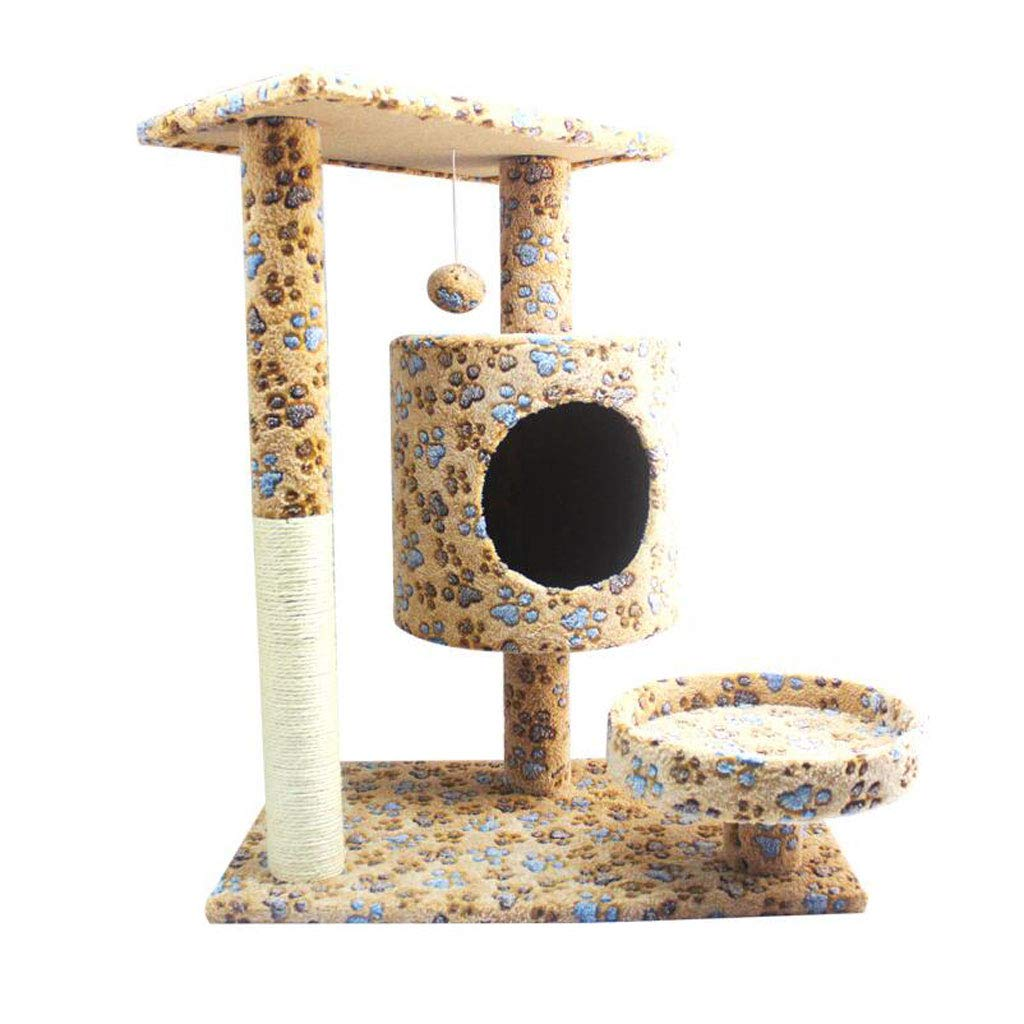 Cat Trees Cat Tree Tower, Plush Natural Sword Cat Tree Cat Climbing Frame Wear-Resistant Scratch-Resistant Durable Cat Houses