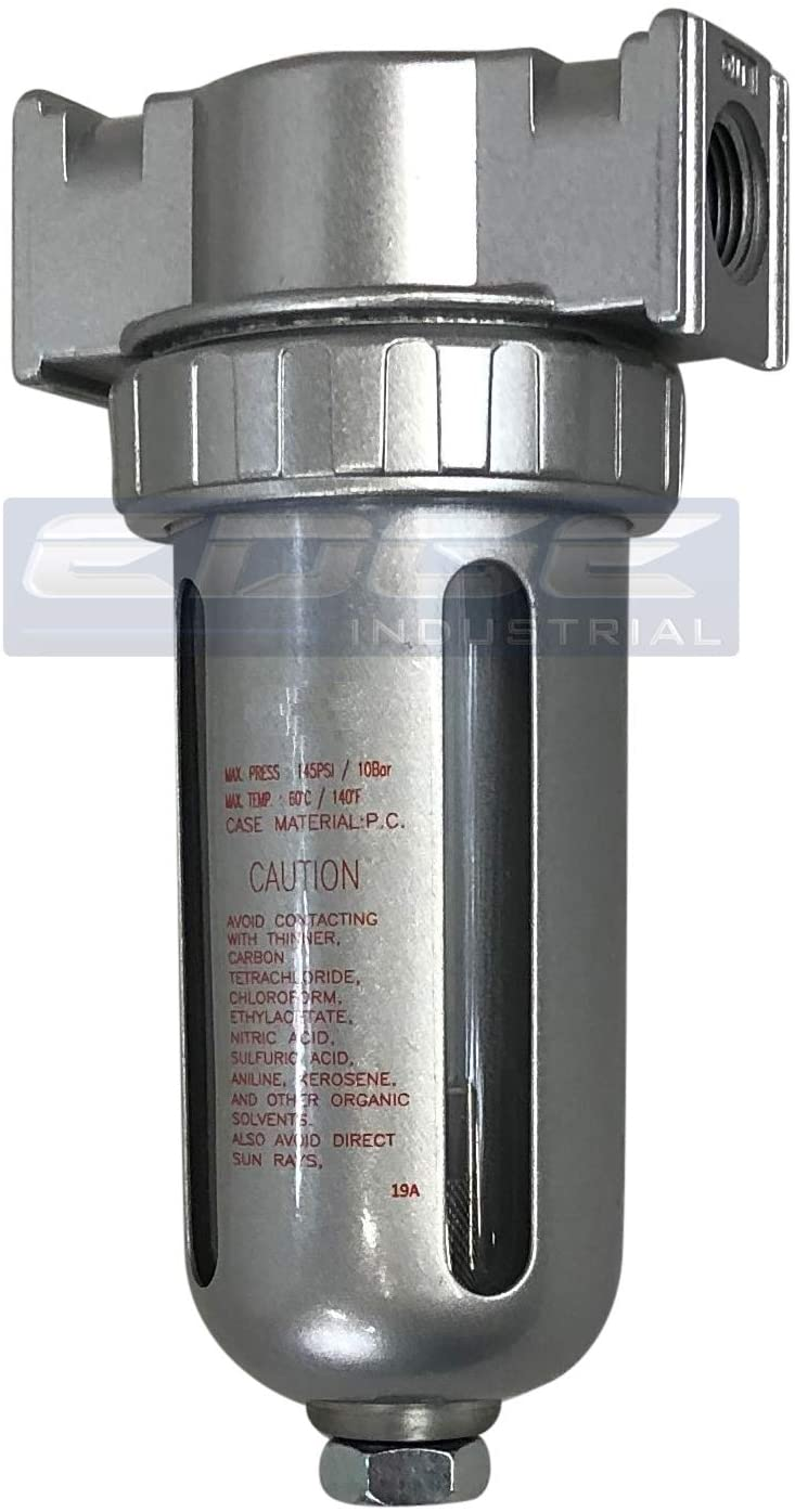 1//4 NPT In LINE Desiccant AIR Dryer for Compressed AIR Great for Pneumatic Tools Spray Booth Plasma Cutter with Desiccant beads