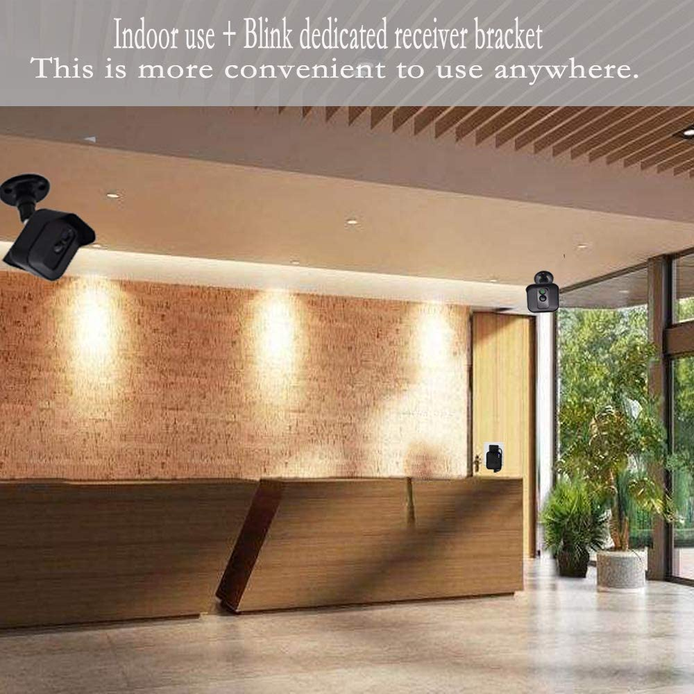 HONGING Bracket Holder for Blink XT Blink XT2 Outdoor and Indoor Security Camera ,Outlet Wall Mount Holder Stand for Blink Sync Module with Easy Mount and No Messy Wires Black 2 Pack