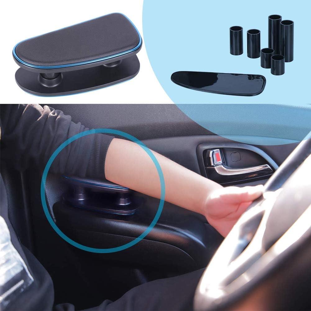 Free Size Universal Auto Armlehne Links Ellenbogenst/ütze ergonomisch verstellbare H/öhe Linke Seite Auflage Polster f/ür Fahrert/ür Schwarz