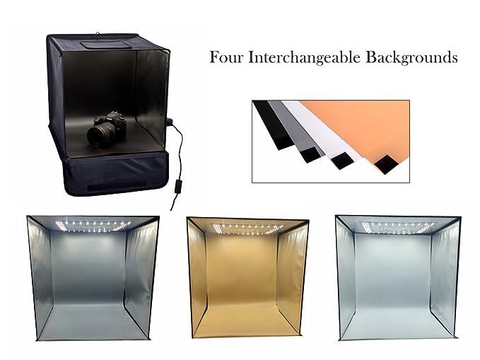 Tienda Photo Studio | Carpa Caja Mediana Luz | Pop Up Kit de Tiro fotográfico portátil de luz | Tienda Ligera del Producto con LED Incorporado