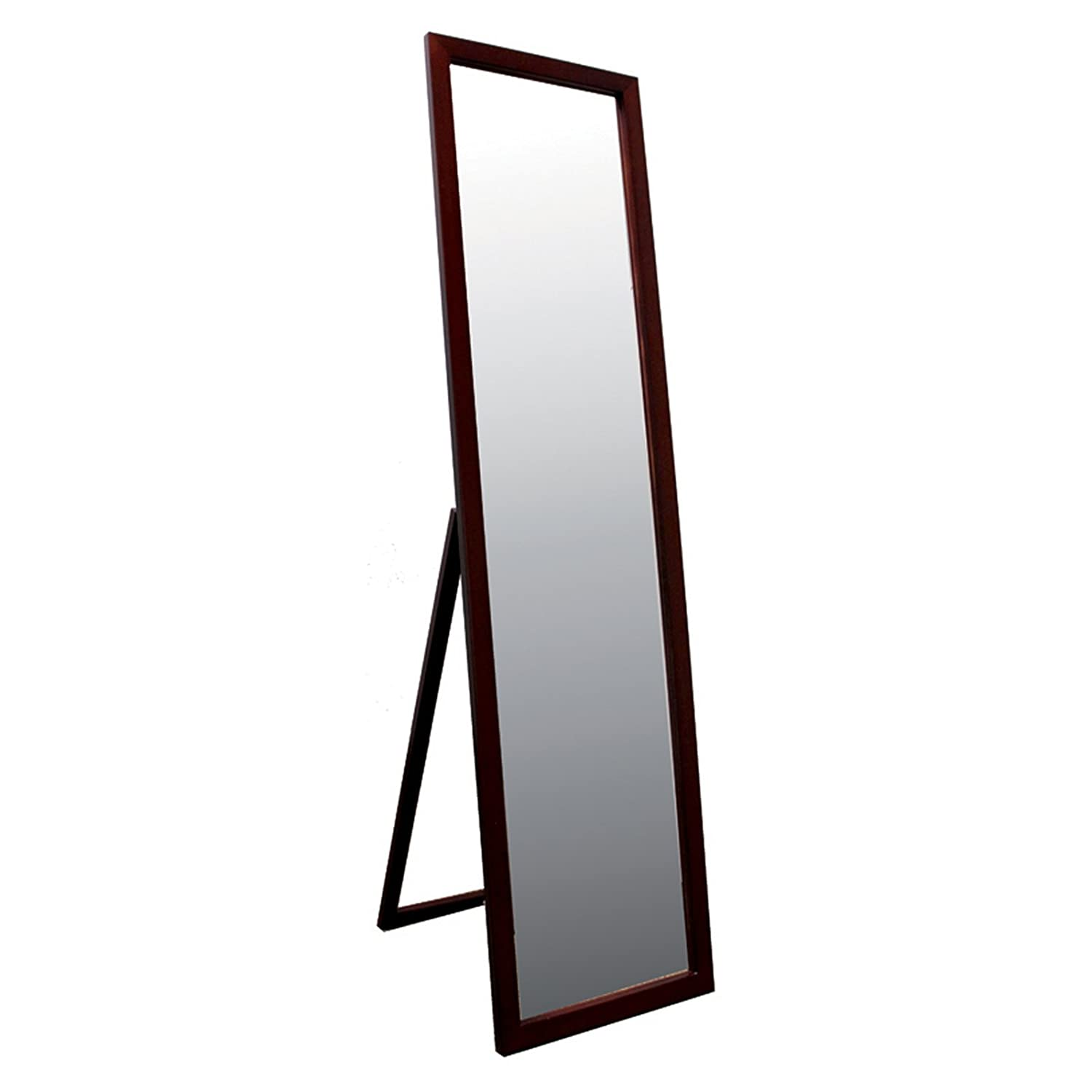 "Full Length Floor Mirror Tall 55"" Free Standing Mount Solid Hardwood Frame Vertical Leaning by All4you"