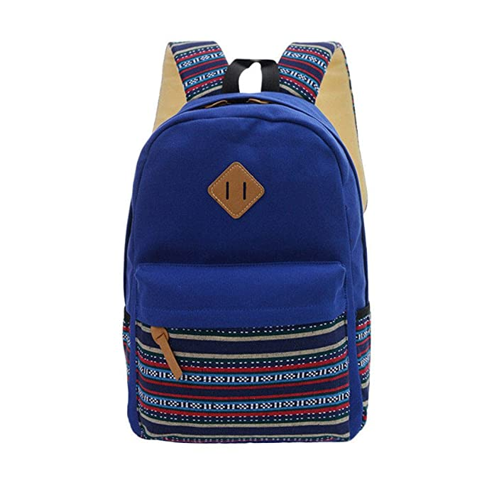 Amazon.com: KKDKXW Canvas Printing Backpack Women School Backpacks Bag For Vintage Backpack Simple Style Backpacks Black: Sports & Outdoors