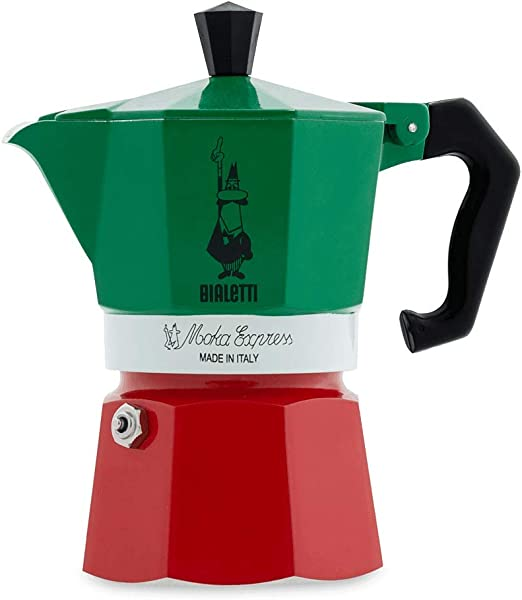 Bialetti 5322 Moka Express Espresso Maker, Green/Red