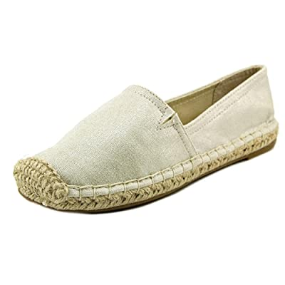 1.4.3. Girl Womens Island Closed Toe Espadrille Flats, Silver, Size 6