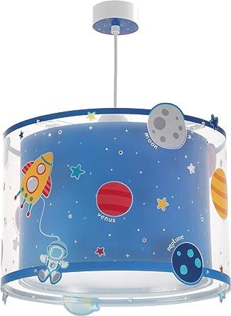 Dalber Planets Lámpara Infantil De Techo Plantes Planetas Azul, 33 x 33 x 25 cm