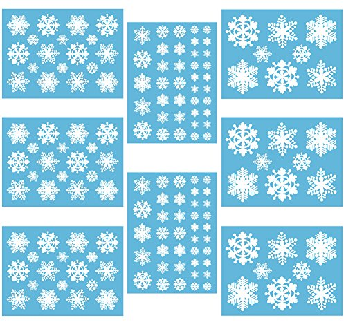 Superclings White Snowflakes Window Cling Decals