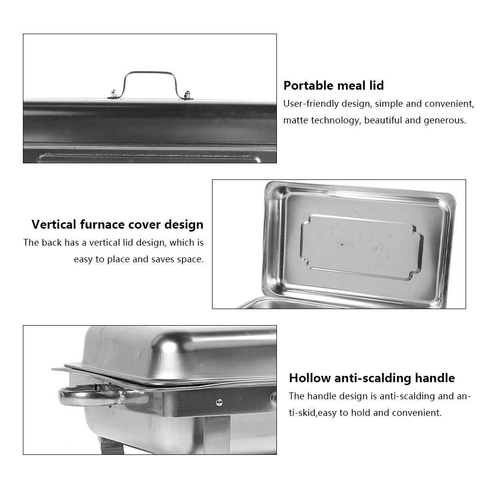 Traiteurs R/éceptions Olibelle 2PCS Chafing Dish Chauffe-Plat en Acier Inoxydable Buffets Chauffants Id/éal pour Buffets et Environnements en Libre-Service