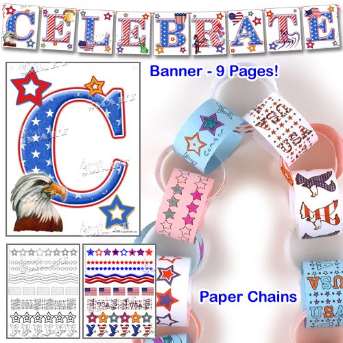 Scrapsmart - Patriotic Party Software Kit - Jpeg, Pdf, and Microsoft Word Files (CDPATPA170) by STORE SMART (Image #6)