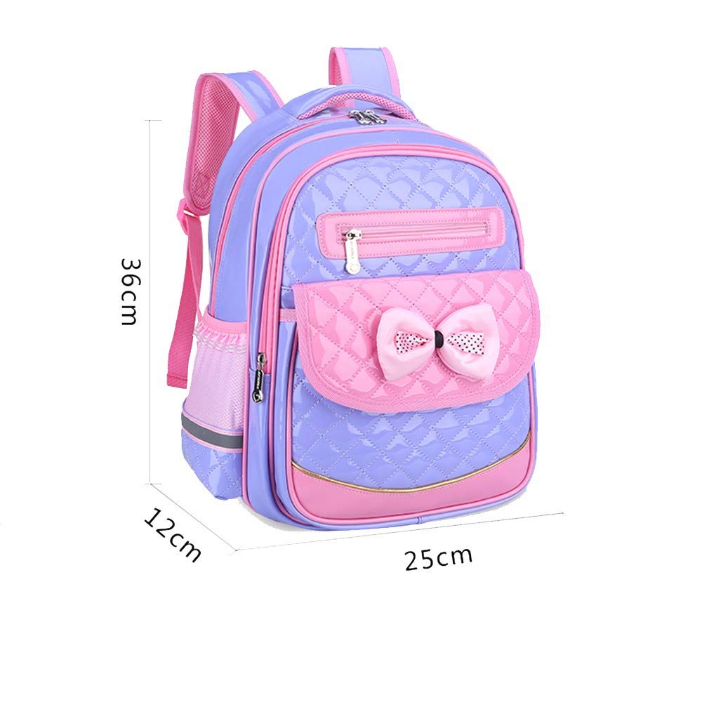 La escuela escuela La primaria bolsa, linda niña Mochila impermeable ligero,Gran Morado 284291