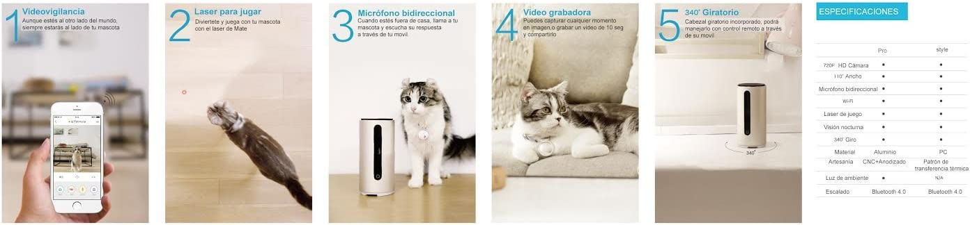 PETKIT Mate, Modelo Pro. Monitor Multifuncional para Mascotas: Amazon.es: Productos para mascotas