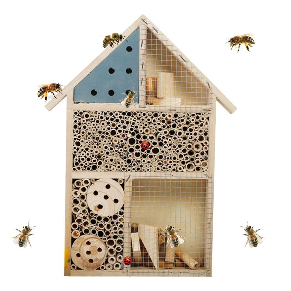 Dreameryoly Insect Hotel Log Insect Feeding House Bee Box Butterfly Nesting Box for Bees Butterflies Garden Gadgets kindhearted
