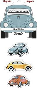 BRISA VW Collection - Volkswagen Beetle Car Bug Magnet 3-pc Set with nostalgic Design (Final Edition)
