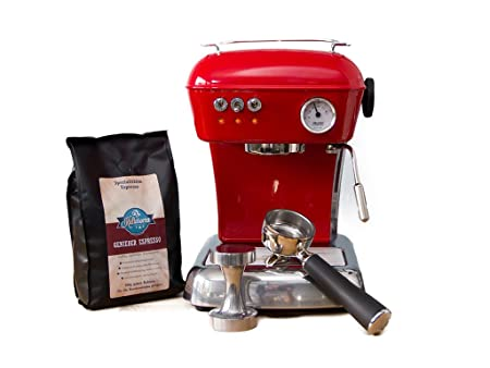 ascaso Dream - Portafiltros eléctrica, cafetera expreso para Barista Calidad Casa, con GRATIS Kult Aroma Espresso rojo: Amazon.es: Hogar