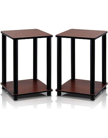fad8e10ac951c Furinno 2-99800RDC Turn-N-Tube End Table Corner Shelves