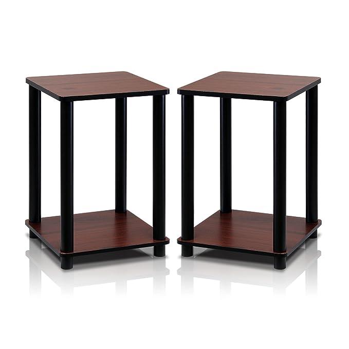 Amazon.com: Furinno 2-99800RDC conjunto de 2 estantes ...
