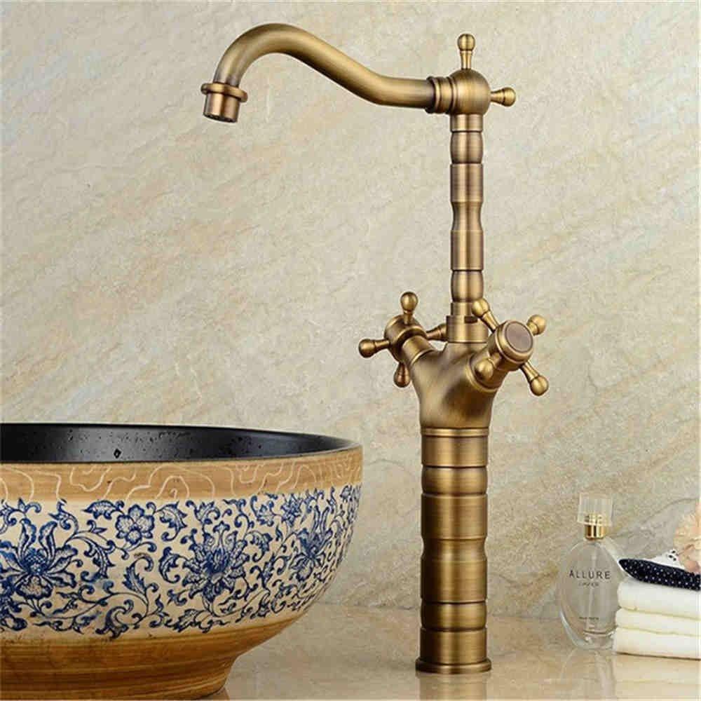 ANNTYE Waschtischarmatur Bad Mischbatterie Badarmatur Waschbecken Antike Einhebelsteuerung Badezimmer Waschtischmischer
