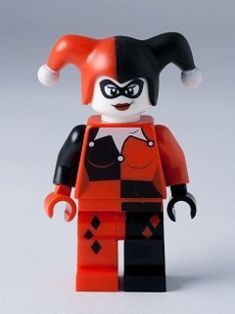 Amazon Com Lego Dc Comics Super Heroes Minifigure Harley Quinn From Dynamic Duo Funhouse 6857 Toys Games