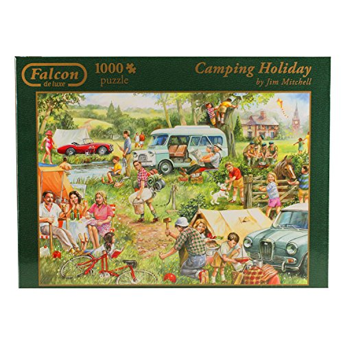 Camping Holiday 1000 Piece Jigsaw Puzzle, Camping Jigsaw Puzzle, Outdoor Activity And National Parks Puzzles, Camp Games Kids And Adults Love