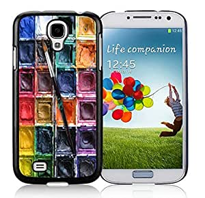 Stylish Samsung Galaxy S4 Case Watercolor Sets With Brushes Art Design Durable Soft Silicone Black Phone Cover Accessories
