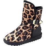 MYMYG Botas Mujer Invierno Botines Estampado de Leopardo de Invierno para Mujeres, además de Botas de…