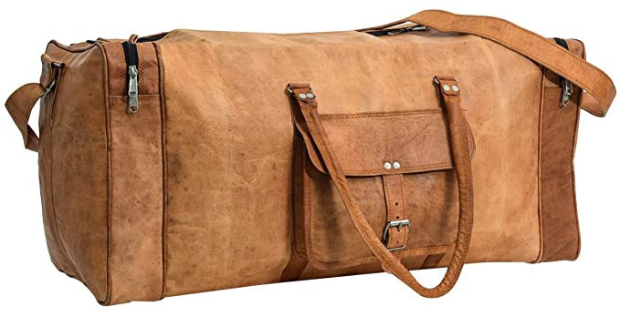 4971dc6c5c Gusti Leder nature quot Toby quot  Genuine Leather Travel Holdall ...