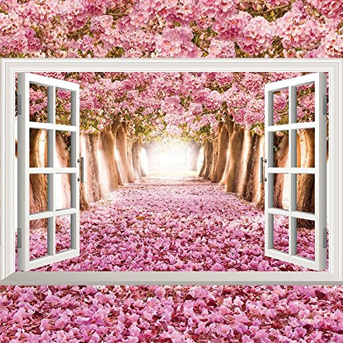 Ghaif Wall mount 3d emulation windows landscape art marine lavender 9060cm0998
