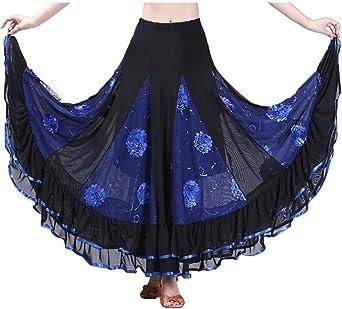 Faldas para Mujeres Danza del Vientre Círculo Disfraz Falda De ...