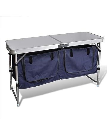 Highlander Steel Camping Kitchen Storage Stand and Cupboard Organiser