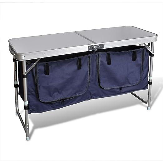 Tidyard - Mueble de Camping Plegable para Exteriores, Soporte de ...