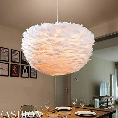 Giow Lámpara de Techo de luz lámpara de araña de Plumas LED ...